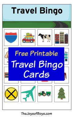 Free Printable Travel Bingo