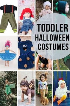 Toddler Halloween Costume Ideas - So many cute ideas in this post ! Fireman, cabbage patch doll, old lady, dinosaur, Princess Poppy from Trolls, Cookie Monster, Skunk, Peter Pan, Tinkerbell, Snail, Mermaid, Chicken! #halloween #toddler #halloweencostumes Cute Toddler Halloween Costumes, Native American Halloween Costume, Couple Halloween Costumes For Adults, Halloween Fun, Couple Costumes, Adult Mickey Mouse Costume, Frozen Costume Adult, Disney Costumes, Adult Costumes