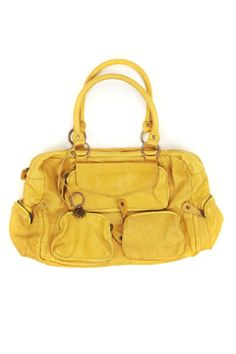 SAC A MAIN NAINA PIECES JAUNE  perso je suis totalement sous le charme