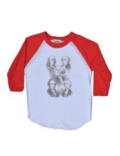 Revolutionary Politicians White/Red Raglan – Wee Rascals