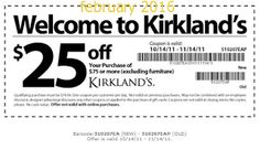 Kirklands Coupons PROMO expires June 2020 Hurry up for a BIG SAVERS Kirklands is a retail chain with more than 300 stores in more than Grocery Coupons, Online Coupons, Dollar General Couponing, Coupons For Boyfriend, Free Printable Coupons, Love Coupons, Extreme Couponing, Coupon Organization, Printables