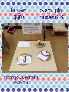 Minibeasts and push pins on the finger gym this week. Inspired by @tishylishy