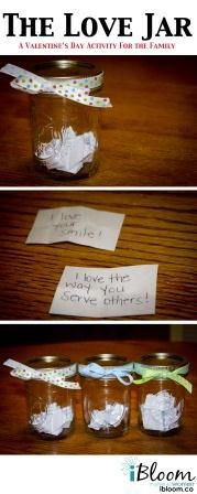 Activity for couples or families, The Love Jar!