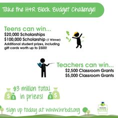 Check out this H&R Block Budget Challenge! Great opportunity to teach financial literacy and win $$$ resources for your classroom!