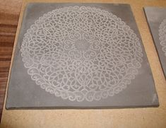 laser engraved ceramic tile, so pretty. Trotec can do that!