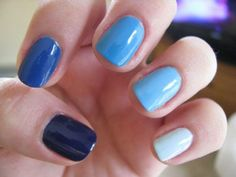 The ombre trend is way cuter on nails than hair.