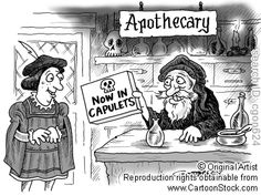 Pharmacy in Shakespeare's time cartoon