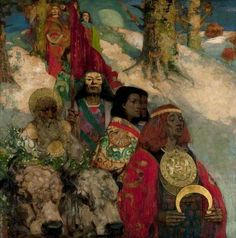 The Druids: Bringing in the Mistletoe, by George Henry and Edward Atkinson Hornel (1890)