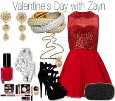 """""""Valentine's Day with Zayn"""" by onedoutfits269 ❤ liked on Polyvore"""