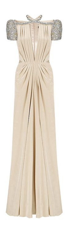 Jenny Packham Pure Silk Crystal Gown