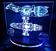 Serenity (Firefly Class) transport spaceship inspired Desk LED Lamp
