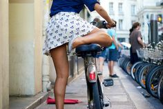 - #paris #bike #girl. Hired one of these bikes in Paris recently. They're called Velibs.