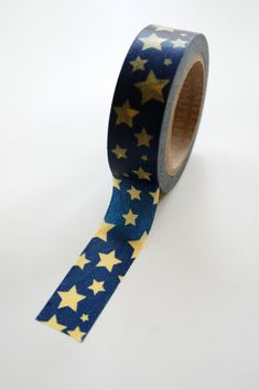 Washi Tape - Yellow Stars on Navy
