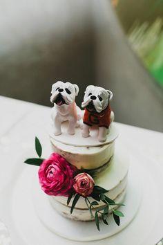 dog cake toppers - photo by Lev Kuperman http://ruffledblog.com/vintage-wedding-at-gramercy-park-hotel