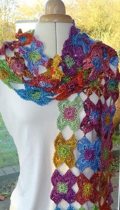 Starflower Crochet Scarf By Agrarian Artisan - Purchased Crochet Pattern - (ravelry)