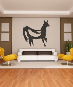 Vinyl Wall Decal Sticker Llama Cave Painting #OS_MB265 | Stickerbrand wall art decals, wall graphics and wall murals.