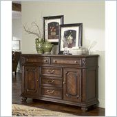 Lexington Fieldale Lodge Glenwood Buffet in Distressed Brown Mahogany - 01-0455-852