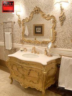 Classic Bathroom Furniture, Bathroom Interior Design, Classic Style Bathrooms, Classic Toilets, Golden Decor, Design Your Dream House, Luxury Homes Interior, Furniture Design, Luxury Furniture