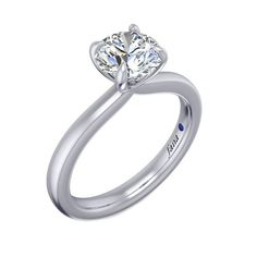 Shop online Fana Solitaire White Gold Diamond Engagement Ring at Arthur Engagement Ring Buying Guide, Cushion Cut Engagement Ring, Classic Engagement Rings, Round Diamond Engagement Rings, Solitaire Engagement, Wedding Rings Solitaire, Bridal Rings, Blue Nile, Moissanite