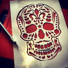 Stencil cut... Hope it works. Got some house chores and a run to the tip before…