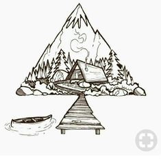 Geometric Nature Geometrische Natur The post Geometrische Natur appeared first on Claud My Page. Art Sketches, Art Drawings, Tattoo Drawings, Tattoo Ink, Tattoo Sketches, Tattoo Moon, Diy Tattoo, Painting Illustrations, Artwork Paintings