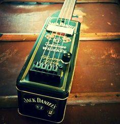 Jack Daniels tin guitar. Scott Brown custom guitars