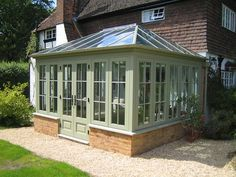 Hardwood Hipped Roof Conservatory In 2020 Hip Roof Conservatory House Plans