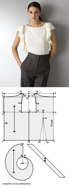 Amazing Sewing Patterns Clone Your Clothes Ideas. Enchanting Sewing Patterns Clone Your Clothes Ideas. Sewing Clothes Women, Diy Clothing, Clothes For Women, Blouse Patterns, Clothing Patterns, Fashion Sewing, Diy Fashion, Sewing Blouses, Diy Kleidung
