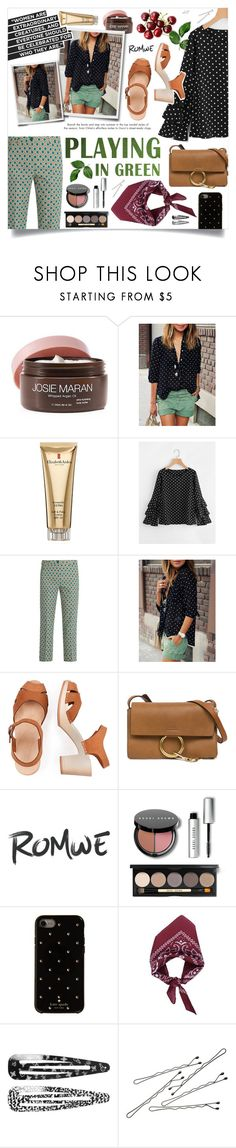 """""""Romwe 1"""" by creartivechild ❤ liked on Polyvore featuring Josie Maran, Elizabeth Arden, Weekend Max Mara, Chloé, Bobbi Brown Cosmetics, Kate Spade, Monki, BOBBY and romwe"""