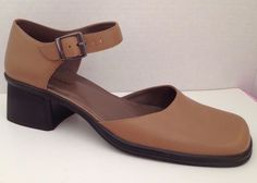 Nine West Shoes Womens Size 9.5 M Tan Heels Currency 9 1/2 M #NineWest #MaryJanes #WeartoWork