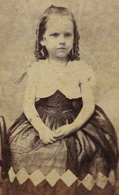 Civil War Era CDV Photograph of A Precocious Child in A Beautiful Dress   eBay