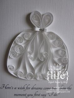 quilled wedding dress
