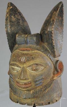 Masque heaume Yoruba NIGERIA helmet mask lézard Lizard Art africain tribal | eBay