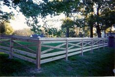 wood fence country style