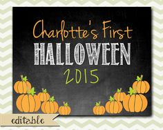 Baby's First Halloween / 11x14 Editable by TinyLittleDots on Etsy