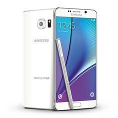 New Samsung Galaxy Smartphone supports 4G networks. It comes in white pearl.