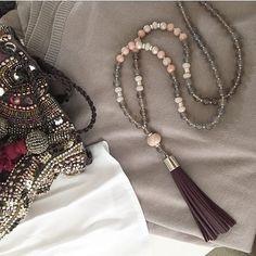 tassel necklace quasten kette quastenkette bettelkette hippie, Hause ideen