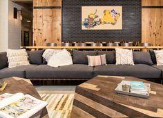 HEIRLOOM FLATS — BLOOMFIELD, CT — Post Road Residential Mid Century Modern Furniture, Midcentury Modern, Apartment Communities, Brio, Apartment Design, Outdoor Furniture, Outdoor Decor, Plank, Rustic