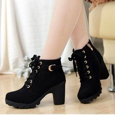 New Women Pumps,European PU Leather Boots Ladies High Heel Fashion Motorcycle Boots,Women Shoes,Drop Shipping,XWX367
