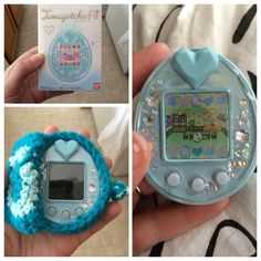Recently got my Tamagotchi P's in the mail!  I made the little case following this pattern here:  http://oddsandendswithlove.tumblr.com/post/52251854003/my-handmade-crochet-tamagotchi-covers-pouches-that