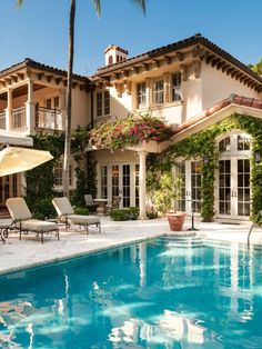 What a lovely mediterranean home with gorgeous pool. TE