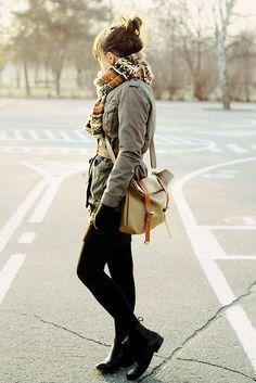 handbag, winter feel.