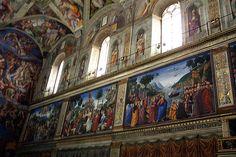 Capilla Sixtina: Frescos y Ventanas /  via Flickr