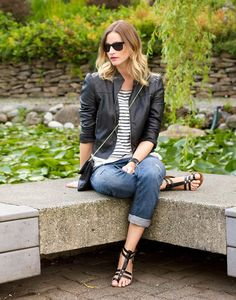 Shop this look on Kaleidoscope (jacket, top, jeans, sandals) http://kalei.do/WukFPN15SvSYV9T2