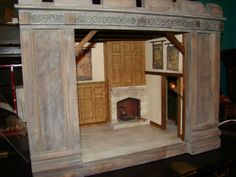 Amazing medieval roombox kit by 2 guys from Texas with additional artisan work 1:12 Scale