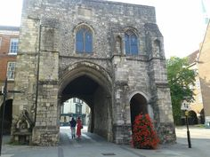 Old city gate in Winchester, UK.