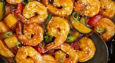 Sweet and Sour Shrimp in a wok Wok Recipes, Prawn Recipes, Sauce Recipes, Seafood Recipes, Asian Recipes, Healthy Recipes, Chinese Recipes, Seafood Meals, Cooker Recipes