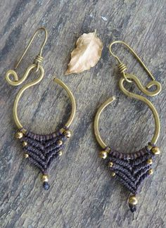 Macrame Tribal Earrings by CuraWay on Etsy