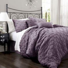 Purple Bedding Westland Home Angelina 7 Piece