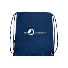 The Navigators Nylon Navy Drawstring Backpack. Additional colors available at http://www.navigatorstores.com/navigator_store__duffles_totes_and_backpacks